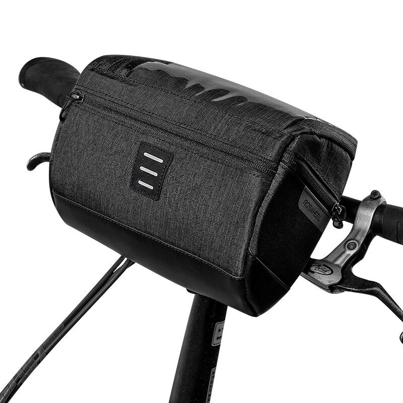 ROSWHEEL 111459 Water Resistant Touchscreen Cycling Bike Bicycle Handlebar Bag