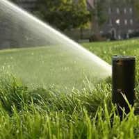 "3/4"" 40-360 Degree Plastic Lawn Watering Sprinkler Head Garden Sprayer Mist Nozzle for lawn irrigation green belt flower bed"