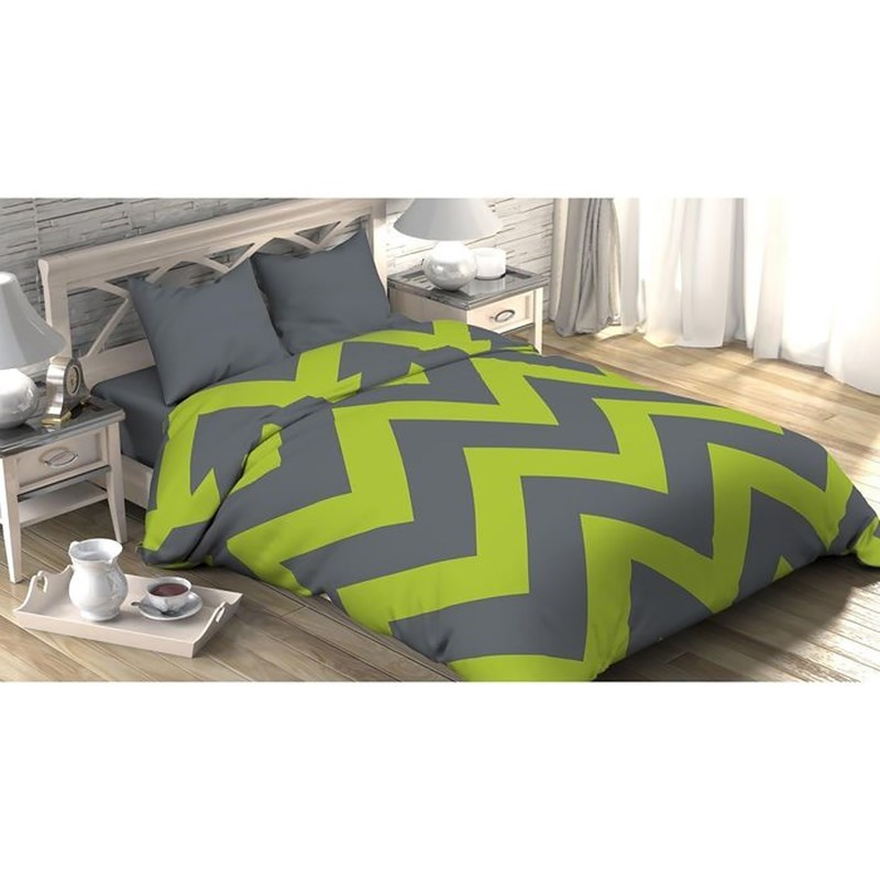 [Available with 10.11] linens euro Green chevron southshore fine linens tm aspen lace® deep pocket sheet set with beautiful lace