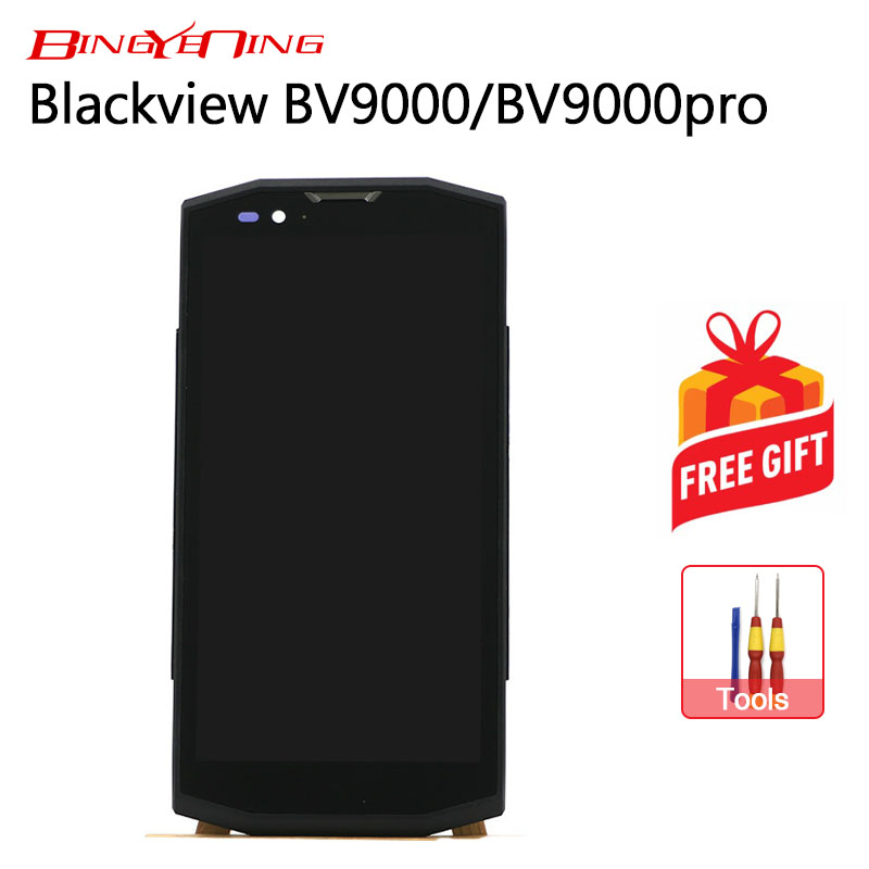 BingYeNing New Original For Blackview BV9000 BV9000 Pro Touch Screen LCD Display Frame Assembly Replacement