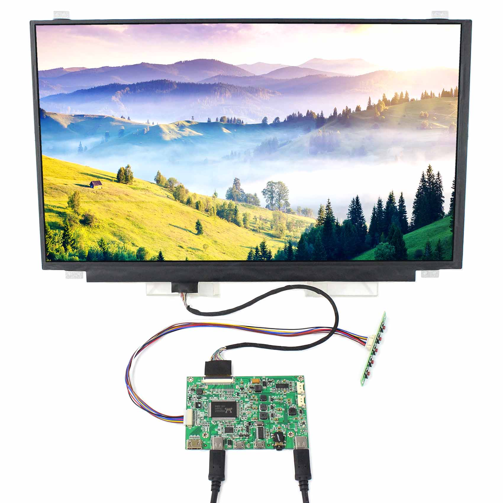 """15.6"""" touch LCD NV156FHM-T10,15.6inch 1920x1080 IPS Touch LCD (With a build-in touch screen)+HDMI Type-C Controller (HDR Board)"""