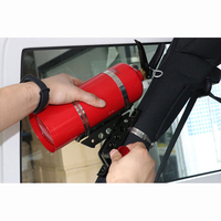 Fire Extinguisher Bracket Aluminum Alloy Fittings Adjustable Fire Roll Bar Extinguisher Mount Clamp For Jeep Wrangler JL JK TJ