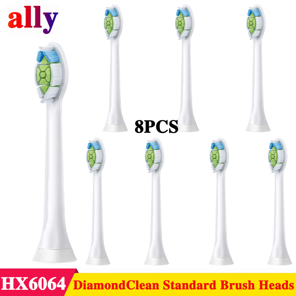 8pcs Replacement Toothbrush Heads compatible with Philips Sonicare Diamond Clean HX6063 for DiamondClean Essence+ Plaque Control8pcs Replacement Toothbrush Heads compatible with Philips Sonicare Diamond Clean HX6063 for DiamondClean Essence+ Plaque Control