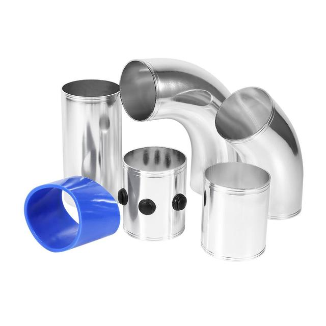 Universal Car Air Filter Fitting Tubes High Flow Induction Intake Kit Aluminium Alloy Set Hot