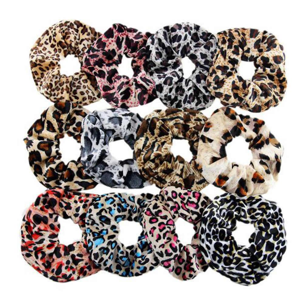 Năm 2019 Thời Trang Da Báo Chấm Nhung Scrunchies Nữ Vintage Cột Tóc Thun Dây Ban Nhạc Phụ Kiện Tóc Dây Buộc Tóc Bé Gái Đuôi Ngựa Giá Đỡ