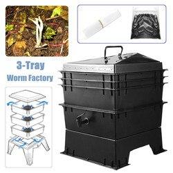 80L PP odpady kuchenne Earthworm kompost Box DIY kompostownik robak fabryka kompostownik domowe Earthworm obornik i wiadra gleby w Wiadra od Dom i ogród na
