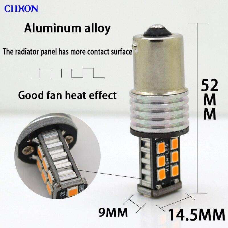 2PCS 1156 Ba15s P21w Bau15s 15 SMD LED lampalar 7506 1141 Avtomatik - Avtomobil işıqları - Fotoqrafiya 3