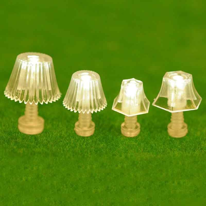 Dongzhur 1:20 Mini Lighting Table Lamp Dollhouse Miniatures Accessories Doll House Bedroom Floor Lamp For Kid