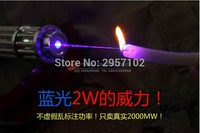 High power Military 5000W 500000m Hunting 450nm flashlight Blue laser pointer burning paper cannon light burn cigars Laser Pen