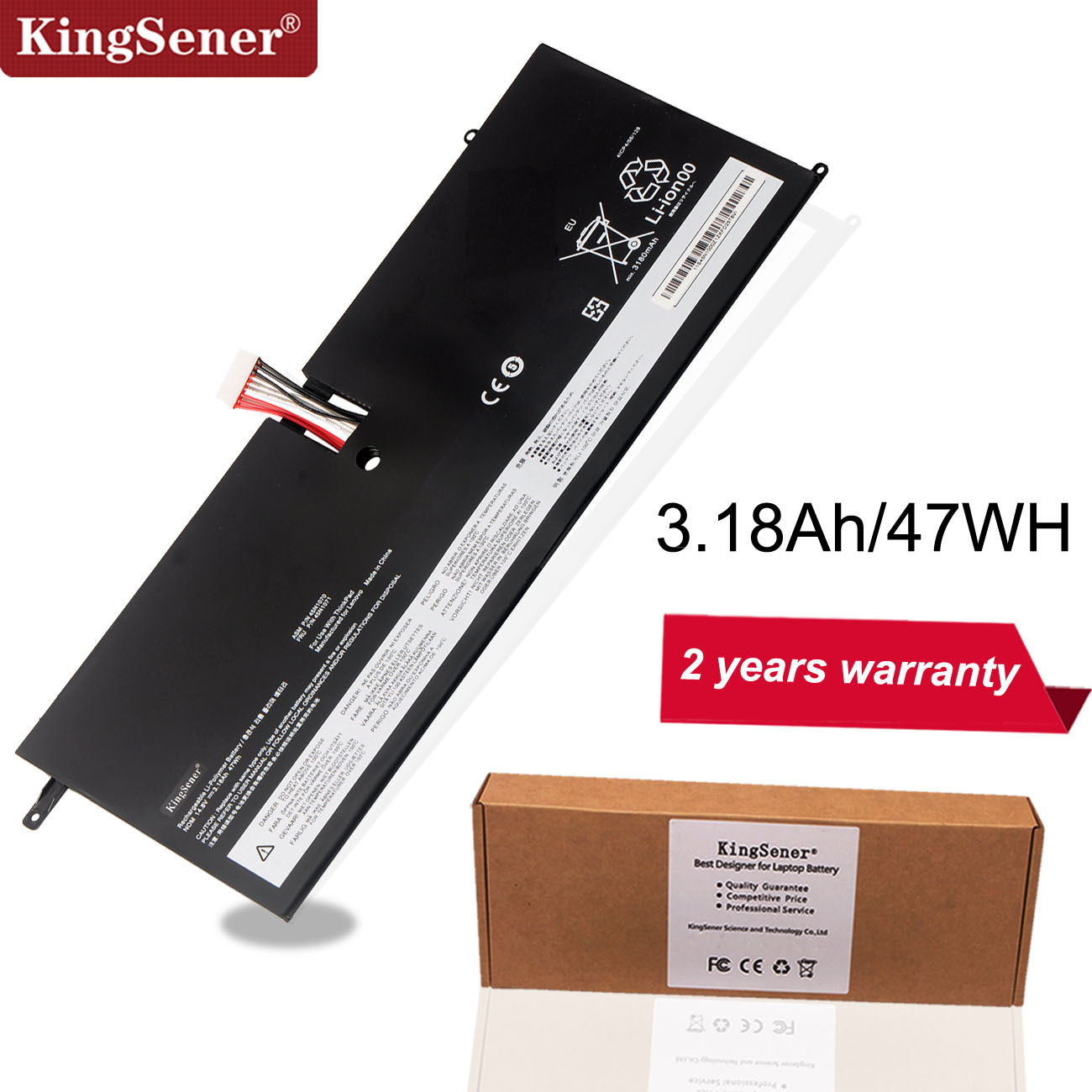 KingSener 45N1070 45N1071 Laptop Battery For Lenovo ThinkPad X1 Carbon Series 3444 3448 3460 Tablet 14.8V 3.18Ah 47WH