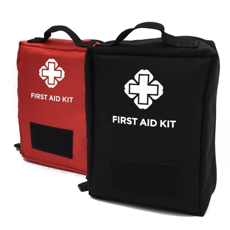 Outdoor First Aid Kit Outdoor Sports Red Nylon Waterproof Cross Messenger Bag Family Travel Emergency Medical Bag DJJB017