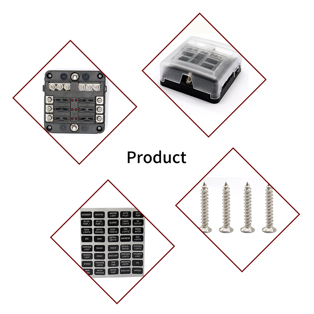 Image 3 - Automotive 12V 6 Way  LED Blade Holder Fuse Box Block Case with Negative-in Fuses from Automobiles & Motorcycles