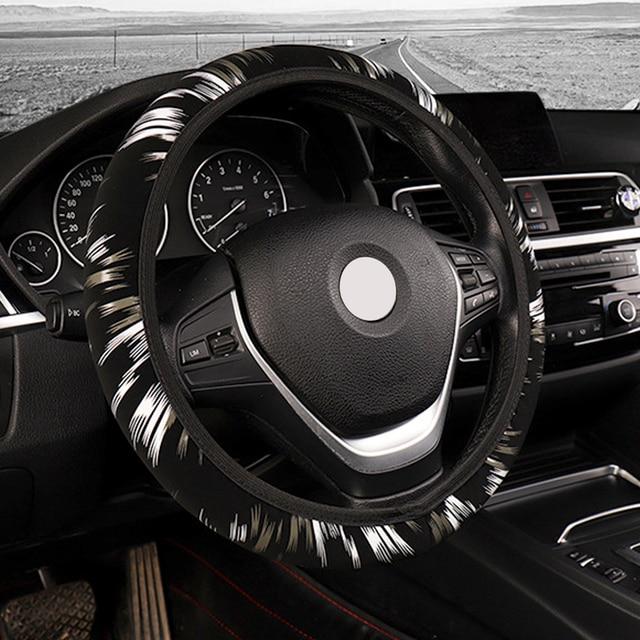 LEEPEE voitures accessoires Auto fournitures doux antidérapant élastique bande couverture de volant couverture de volant de voiture