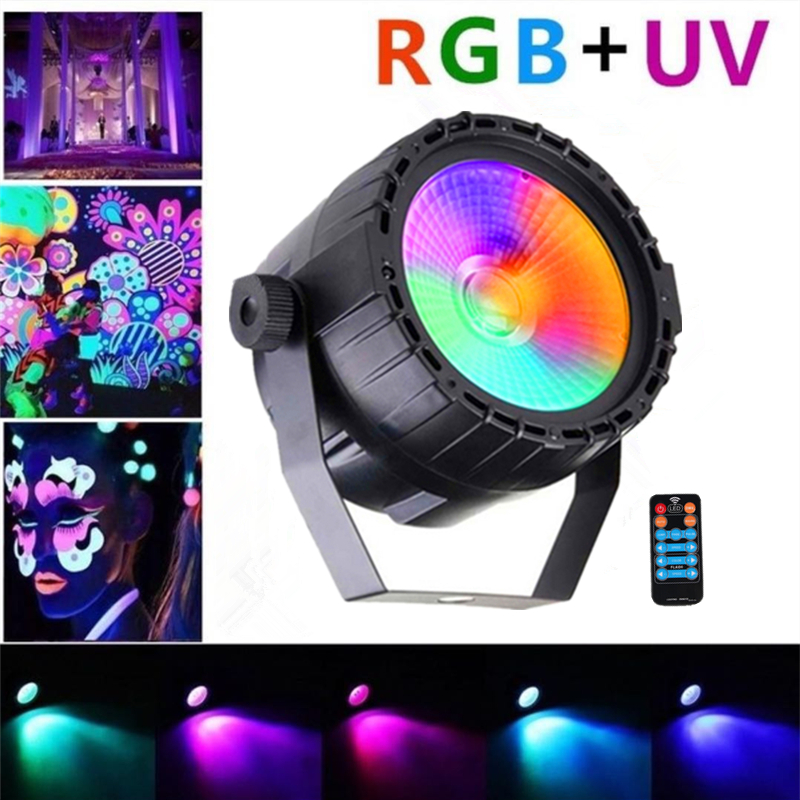 Wireless Remote Control 30W RGB+UV Effect COB LED Stage Light LED Par Light DMX512 Stage Lighting Lamp For Party Bar Decoration