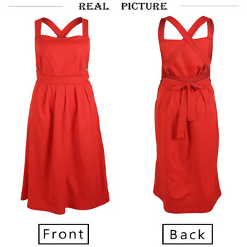Women Summer Boho Strappy Long Maxi Dress Sexy Backless Party Red Dress Beachwear  Sundress vestido mujer 4