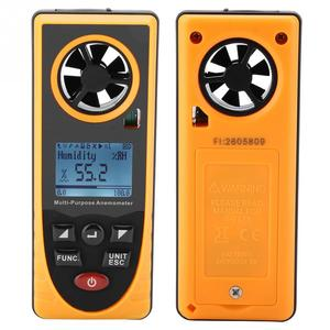 GM8910 Handheld Digital Anemometer Air Wind Speed Scale Meter Multifunctional LCD Display Thermometer Hygrometer Illuminometer