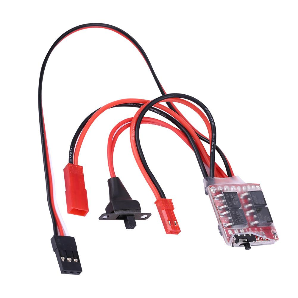 Pack of 4 powerday RC 10A Car Boat Brushed Speed Controller for 1//16 1//18 1//24Car Boat Tank Without ESC Brake Work with 130//180//260//280//380 Brushed Motor