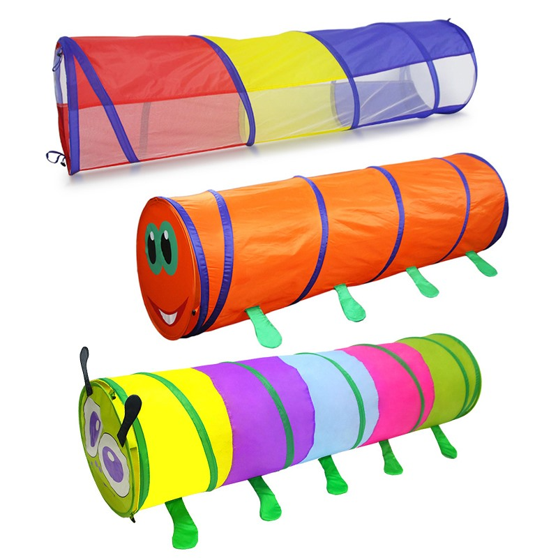 Tents For Children Kids Animal Pop Up Crawl Tunnel Tube Play Tent Toy Indoors/outdoors Garden Game Infant Drill Climbing Puzzle