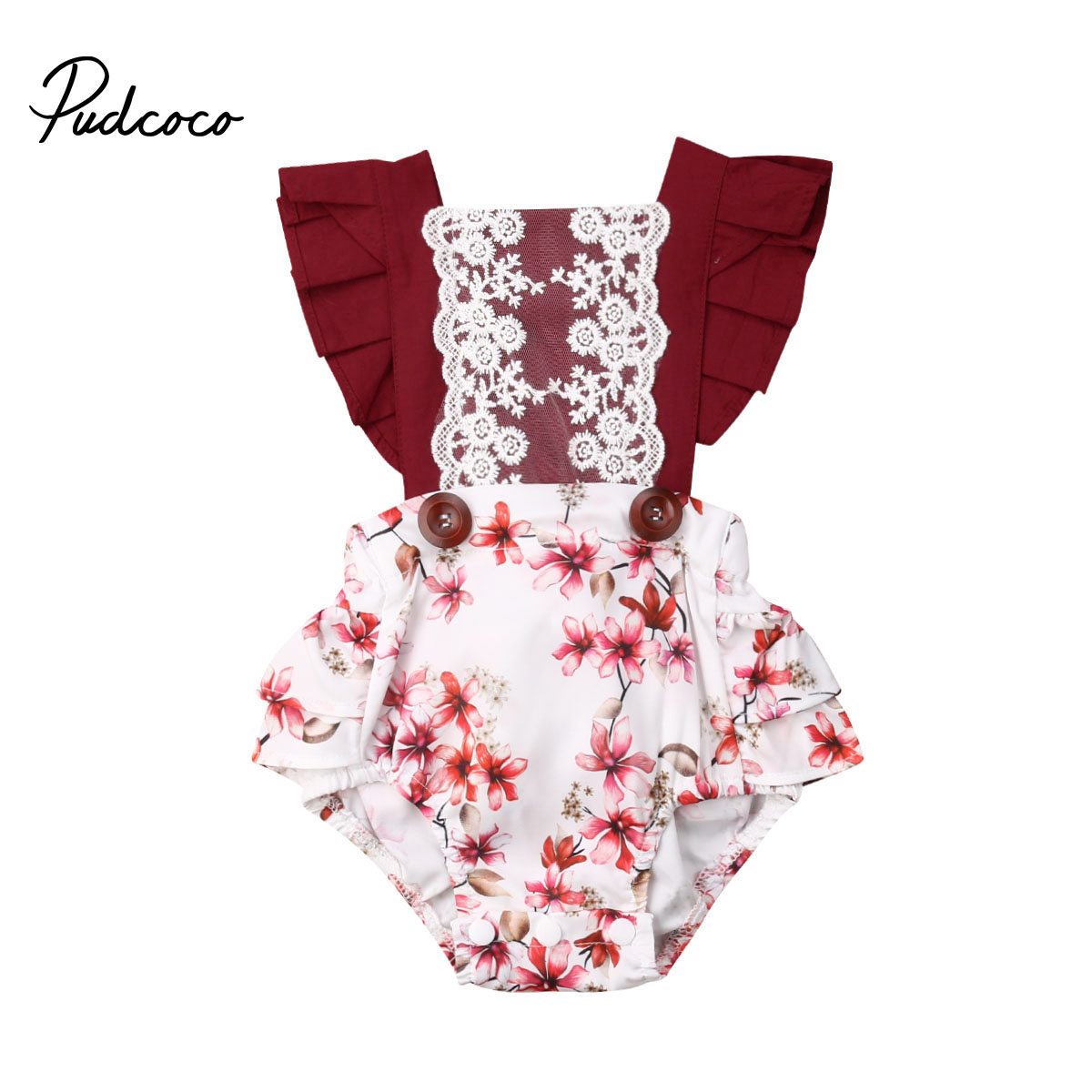 Flower Newborn Infant Baby Girl Floral   Romper   Jumpsuit Summer Clothes Outfit for Newborn Children Clothes Kid Clothing
