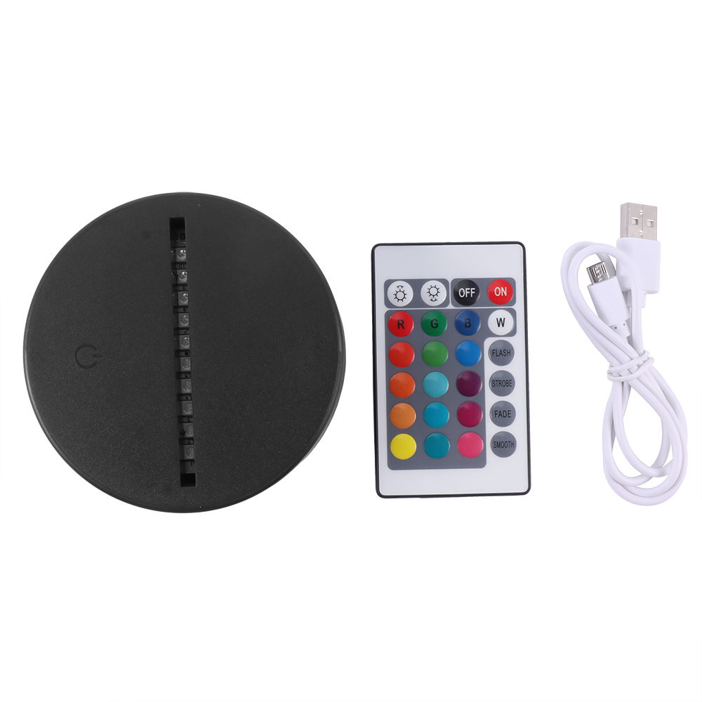 USB Cable Touch Lamp Bases For 3D LED Night Light Replacement 7 Color Colorful Light Base Table Lamp Part With RemoteUSB Cable Touch Lamp Bases For 3D LED Night Light Replacement 7 Color Colorful Light Base Table Lamp Part With Remote