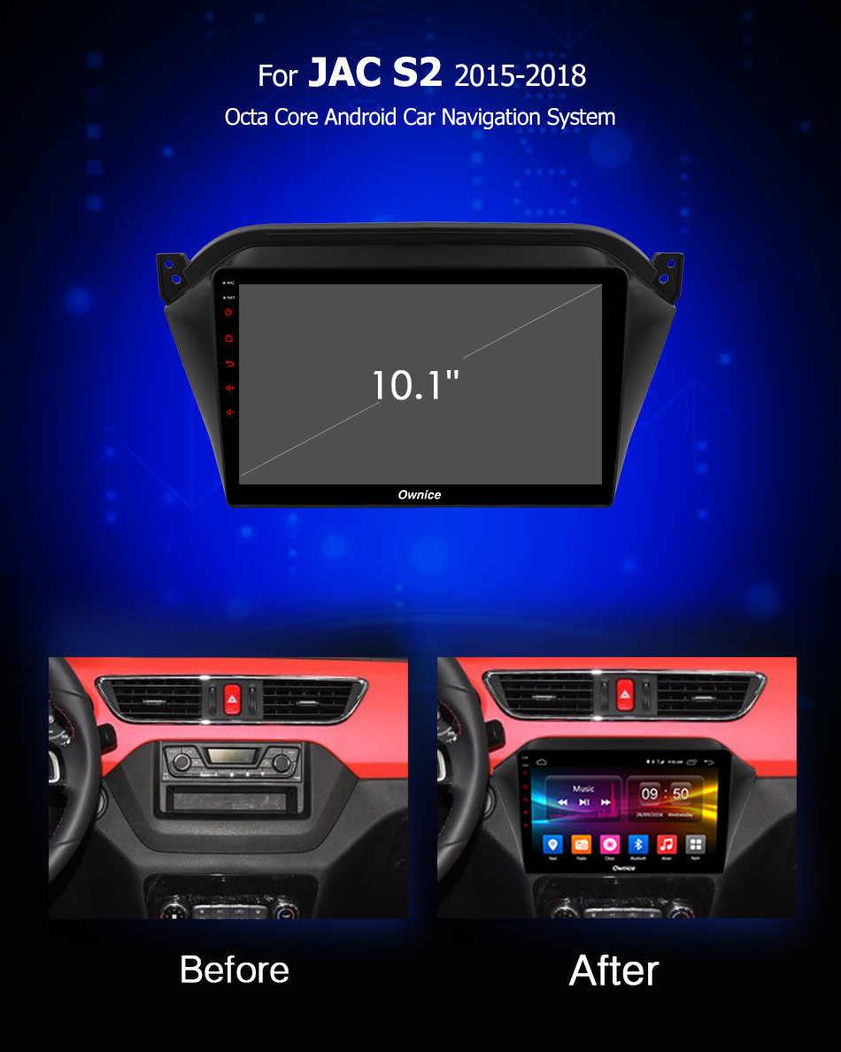 Ownice C500 + G10 10.1 inch Android 8.1 Auto DVD recorder Voor JAC S2 2015 ~ 2018 GPS Navigatie Radio spiegel link Octa core 2G + 32G