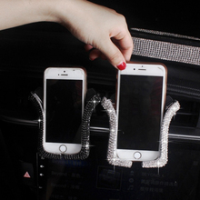 Universal Car Phone Holder with Bling Crystal Rhinestone Air Vent Mount Clip Cell for iPhone Samsung