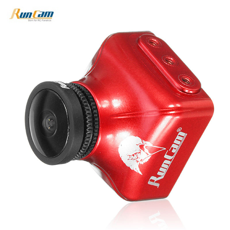 RunCam Eagle 2 Pro Global WDR OSD Audio 800TVL CMOS FOV 170 องศา 16:9/4:3 Switchable FPV กล้องสีส้มสำหรับ RC Drone อะไหล่-ใน ชิ้นส่วนและอุปกรณ์เสริม จาก ของเล่นและงานอดิเรก บน   2