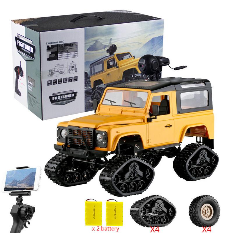 1/16 Rc Crawler Landrover Military Truck Wifi Hd 720p Camera Car Drive Off Road For Children Birthday Gifts In Short Supply