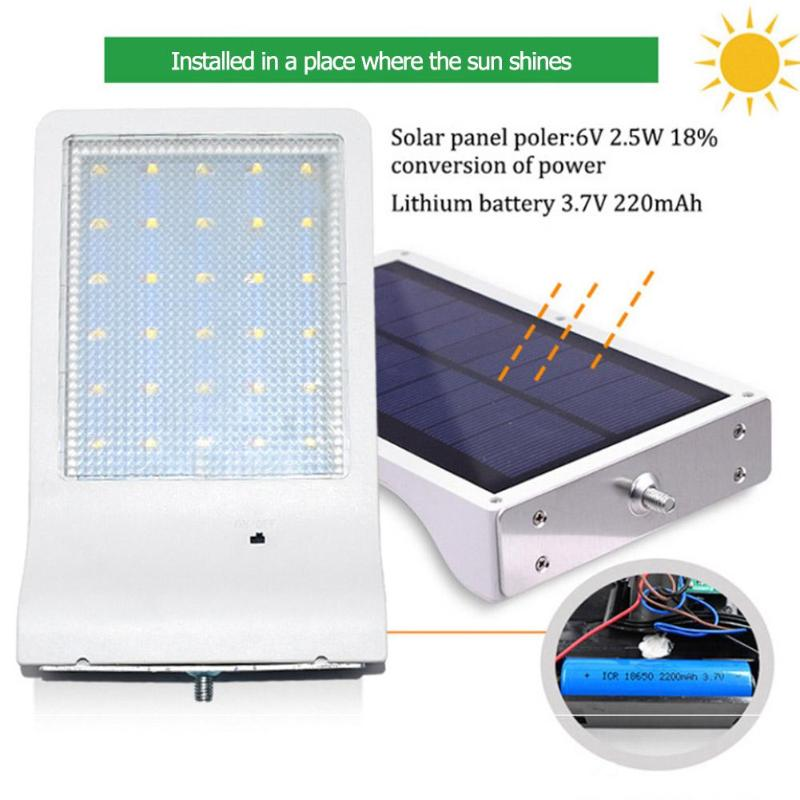 Modestil 30 Led Solar Licht Garten Wasserdichte Sicherheit Wand Lampe Scheinwerfer Mit Pol Energiesparende Yard Pfad Home Garten Solarlampen Außenbeleuchtung