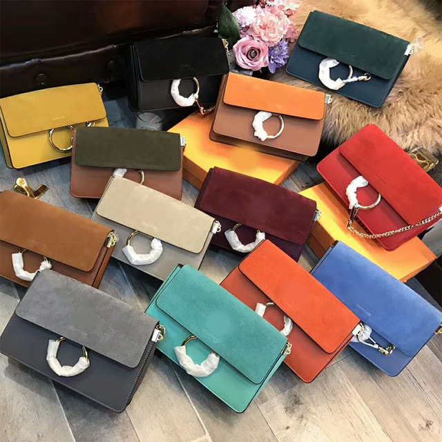 2018 NEW Custom Clutch Women HandBag Real Leather Cowhide Faye Brand  Handbags Ring High-end 5d04c6455af63