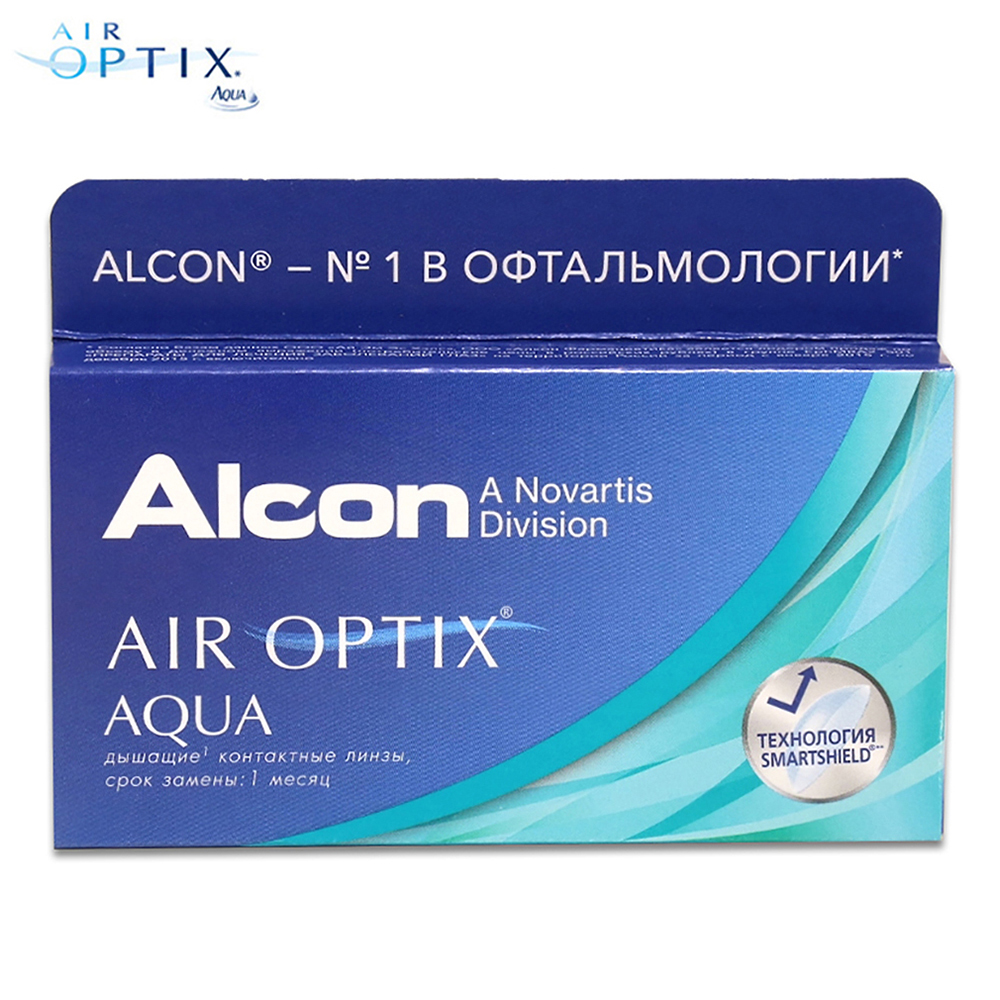 Contact Lenses Alcon Air Optix Aqua  386 eye lens vision correction health care контактные линзы alcon air optix aqua 6 шт r 8 6 d 05 25