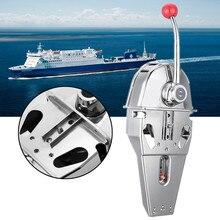 316 нержавеющая сталь ручка двигателя управление коробка Топ крепление морской лодка Однорычажный двойного действия встроенный трения 45,5x15x12 см