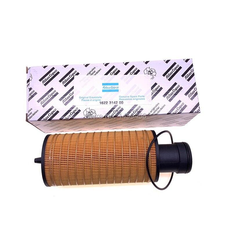Livraison gratuite 4 pcs/lot filtre à huile élément filtre à carburant filtre à liquide de refroidissement 1622314200 (1622 3142 00) pour GA22-90 partie compresseur