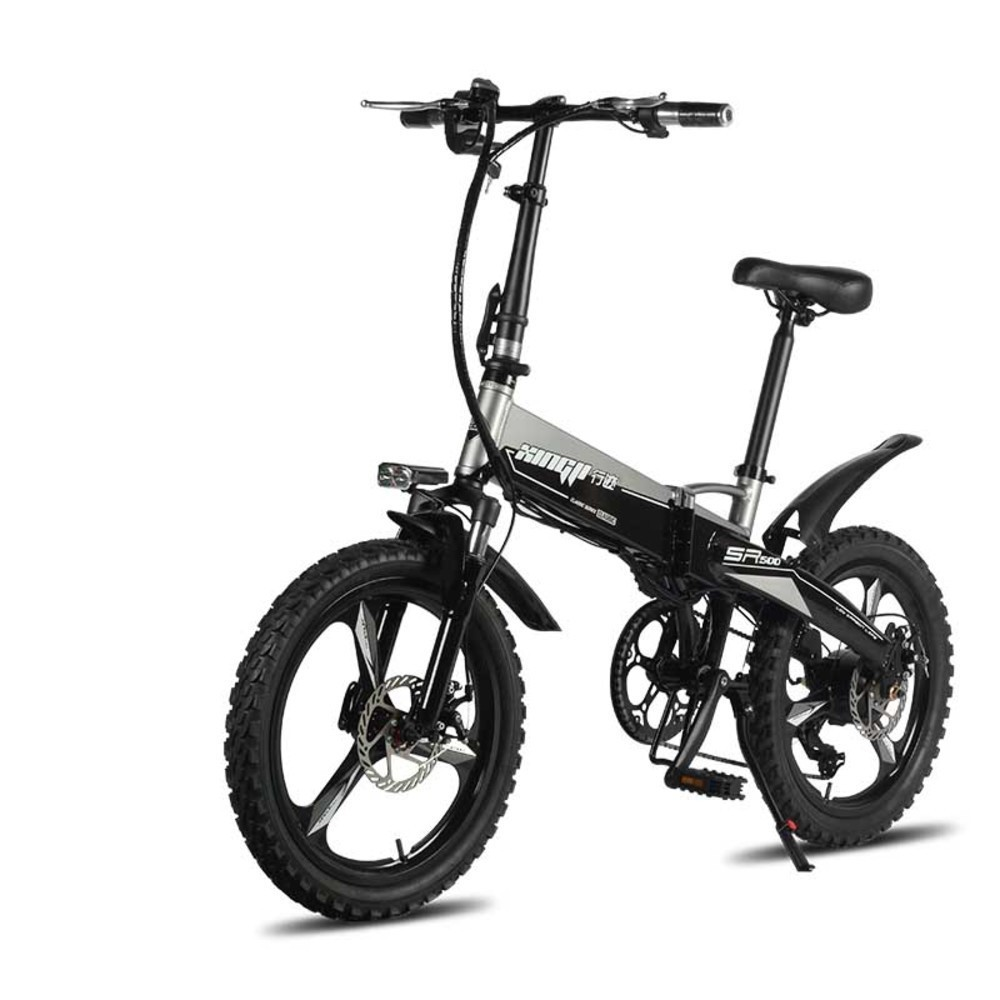 20 Inch 48 V Lithium Battery Electric Bicycle 250w Engine Rear Wheel Hidden Aluminum Folding Electric Bike Tyres 2.4 Bold