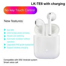 Free Shipping LK-TE8 Bluetooth Earphone Wireless Earbuds Stereo Bass Headset for iPhone Huawei Headphone PK i10 EP010 I9S i7s