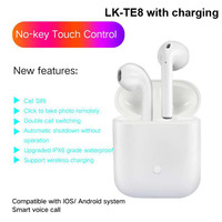 Free Shipping LK TE8 Bluetooth Earphone Wireless Earbuds Stereo Bass Headset for iPhone Huawei Headphone PK i10 EP010 I9S i7s