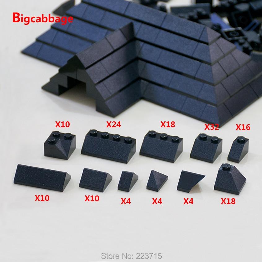 * Bloco de telhas de telhado * bloco de tijolos diy iluminar bloco conjunto de tijolos no.6119 compatível com outras partículas de montagem