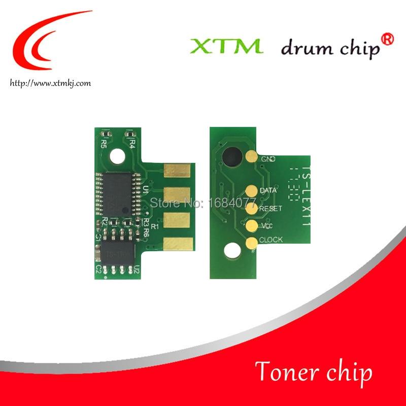 4X Toner chip 71B10K0 71B10C0 71B10M0 71B10Y0 for Lexmark CS317 CS417 CS517 CX317 CX417 CX517 printer