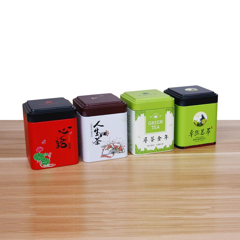 Mini Tin Storage Box Chinese Traditional Vintage Style Tea Can Tea Sealed Can Container Jar Tin Storage Box Candy Iron Canister