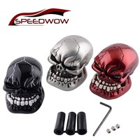 SPEEDWOW Universal Car Gear Shift Knob Skull Modification Car Interior Gear Shifter Knob Hand Brake Covers Case Car Accessories