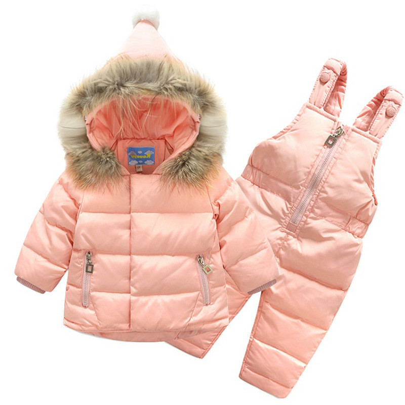 Baby Infant Girls Fluffy Hooded Jacket Winter Snow Parka Down Warm Outdoor Coat