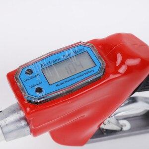 Image 3 - Cyfrowy miernik przepływu wskaźnik spalinowa benzynowa paliwa dysza pistoletu do tankowania oleju aluminiowa stacja benzynowa narzędzia do wtrysku paliwa