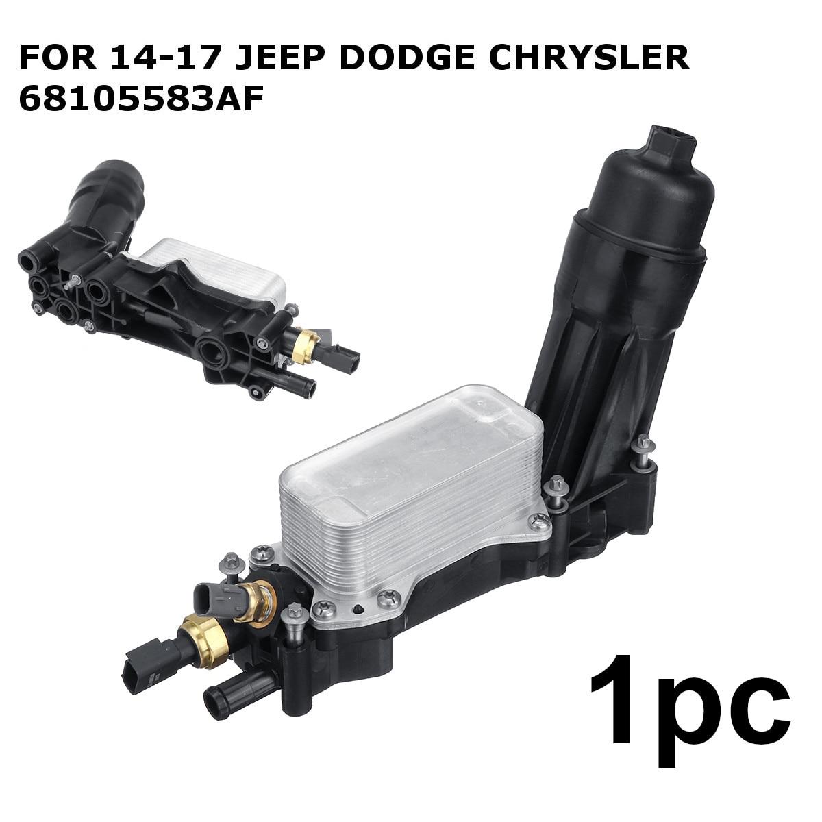 Car Engine Oil Filter Adapter Housing For Jeep for Dodge Chrysler 3 6 V6 2014 2015
