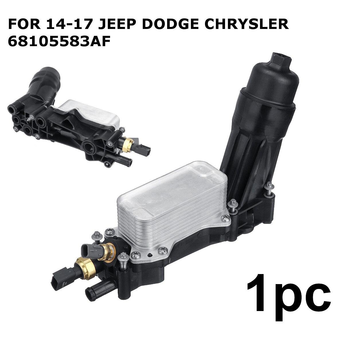 車のエンジンオイルフィルターアダプターのためのジープのためのダッジクライスラー 3.6 V6 2014 2015 2016 2017 68105583AF 68105583AB  グループ上の 自動車 &バイク からの オイルクーラー の中 1