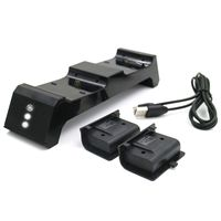 JYS for Xbox One/Xbox One S X Dual Controller Charging Dock Charger+2x Battery Pack