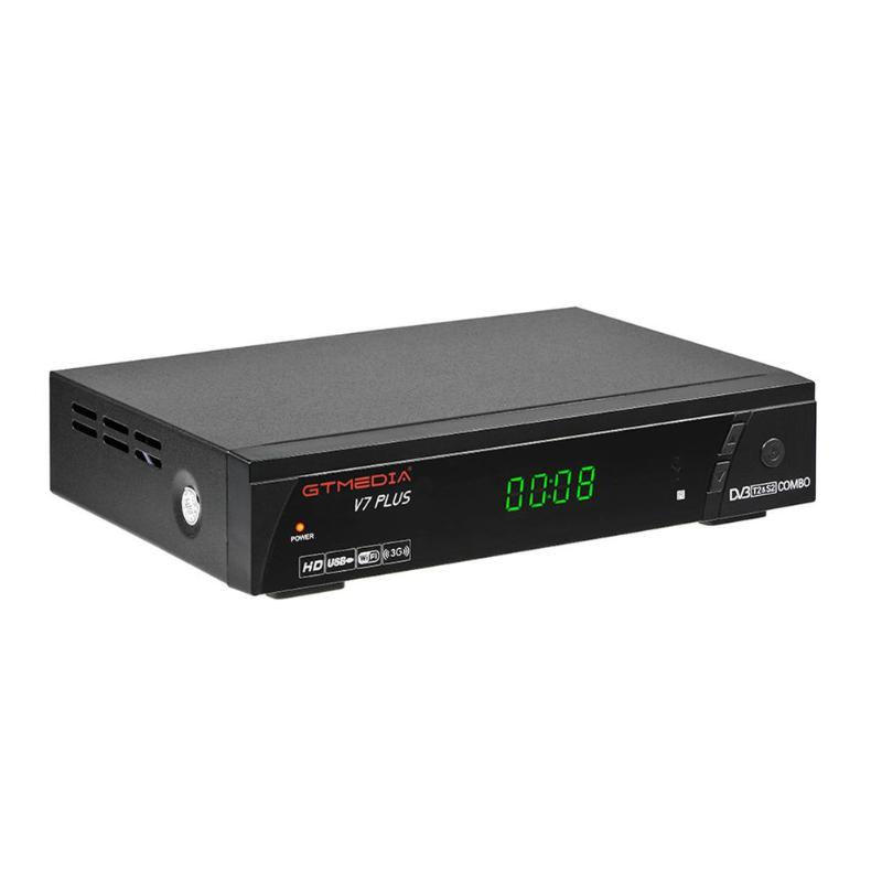 GTmedia V7 Plus Satellite Receiver 1080P Full HD TV Box DVB-S/S2 + T/ T2 Decoder EU Plug supporting H.265 PowerVuGTmedia V7 Plus Satellite Receiver 1080P Full HD TV Box DVB-S/S2 + T/ T2 Decoder EU Plug supporting H.265 PowerVu