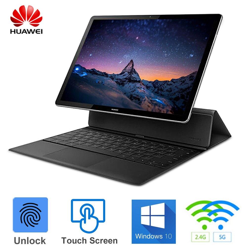 HUAWEI MateBook E 2 dans 1 Ordinateur Portable 12 pouces Windows 10 OS Intel Core i5-7Y54 Dual Core 1.2 GHz 8 GB + 128 GB/256 GB écran tactile Portable
