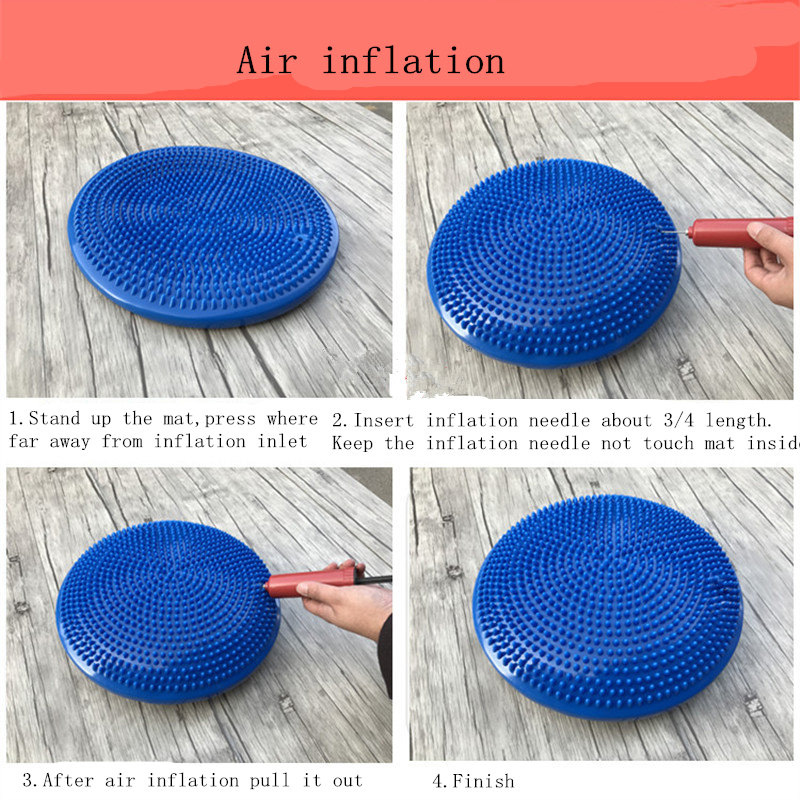Image 5 - Yoga Balanced Mats Massage Pad Cushion Balance Disc Balance Ball Riot Yoga Cushion Ankle Rehabilitation Cushion Pad-in Yuga Mats from Consumer Electronics