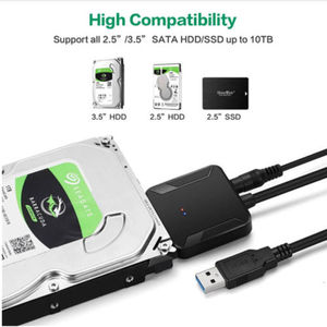 Image 4 - USB3.0 to 2.5 3.5 SATA Hard Drive HDD SDD Converter Adapter PC Cable