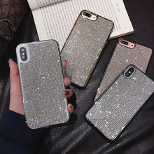 Bling Rhinestone Diamond Soft Silicone Case For iPhone 8 Plus 7 XS XR  Luxury Glitter Back Cover iphone 6 6s plus